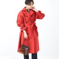 赤コートコーデ30選♡周りと差が付くレディースの着こなしを大公開!