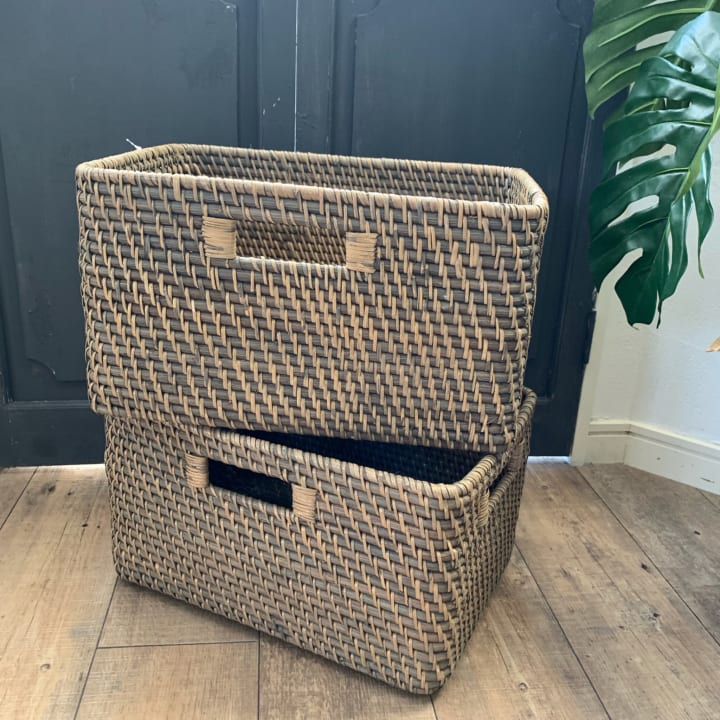 ニトリのボックスがぴったりな収納家具の作り方