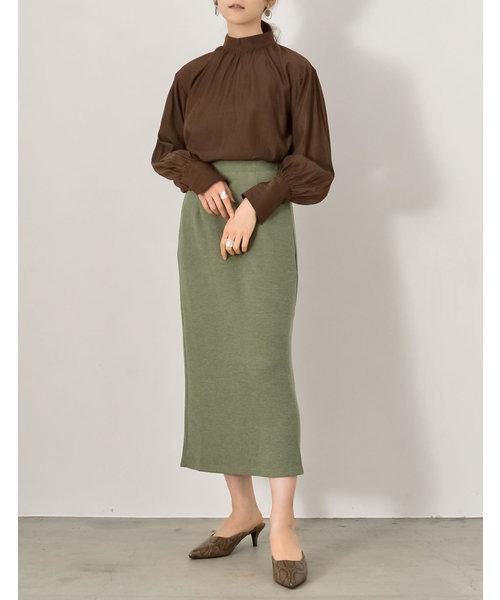 [Re:EDIT] リブニットソーロングセミタイトスカート