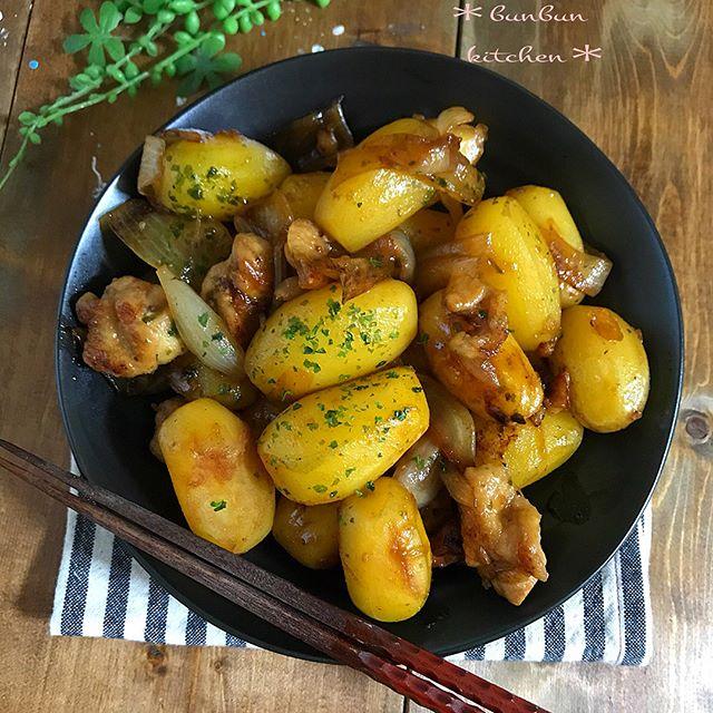 根菜 じゃがいも 煮物 レシピ2