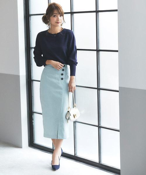 [tocco closet] コーデュロイタイトスカート