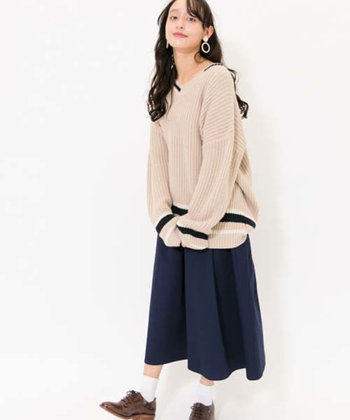 [E hyphen world gallery] Aラインロングスカート