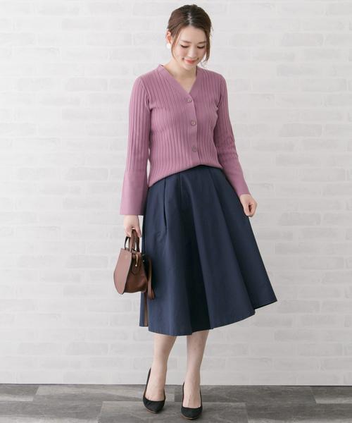 13[URBAN RESEARCH ROSSO WOMEN] ランダムタックフレアースカート