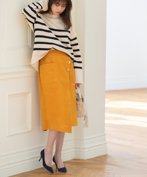 [tocco closet] アシメデザインコーデュロイスカート