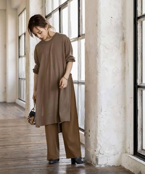 8[kobelettuce] ポンチイージーワイドパンツ【WEARISTA田中亜希子さん×KOBE LETTUCEコラボ】