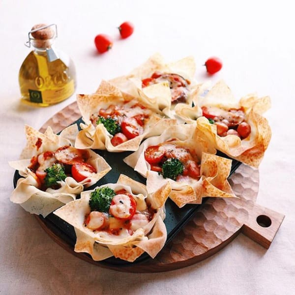 春巻きの皮で作る!簡単クリスピーピザ