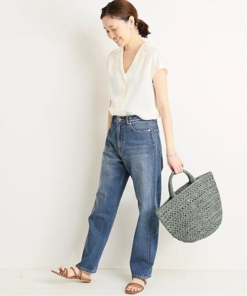 シンプルな真夏の今日の服装【パンツ】