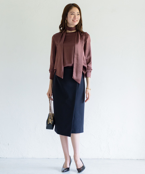 [Loungedress] ラップタイトスカート