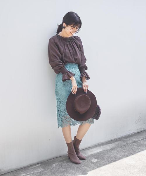 [EMMEL REFINES] ◆FC ケミカルレースIラインスカート