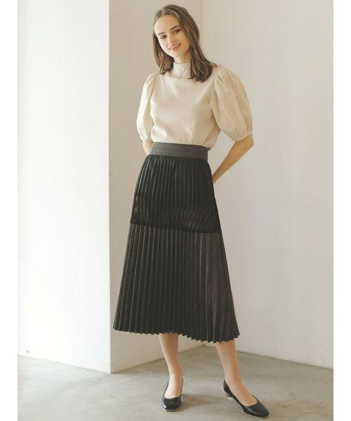 [LAGUNAMOON] ブロッキングチェックプリーツスカート