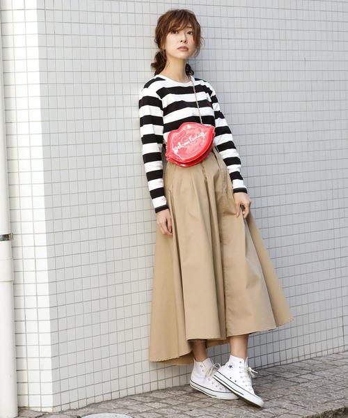 [ViS] 【WEB限定】チノ&デニムボリュームスカート