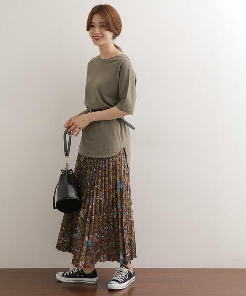 [URBAN RESEARCH DOORS] フラワープリントプリーツスカート