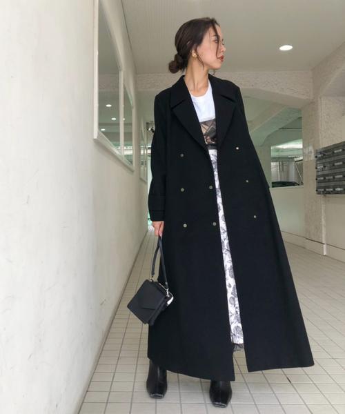 ロングスカート コート