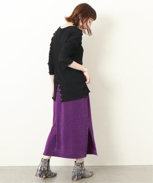 [JOURNAL STANDARD] 《WEB限定》JS+eラメニットスカート