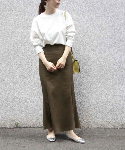 [ADAM ET ROPE'] 【WEB限定】ツイルマーメイドスカート