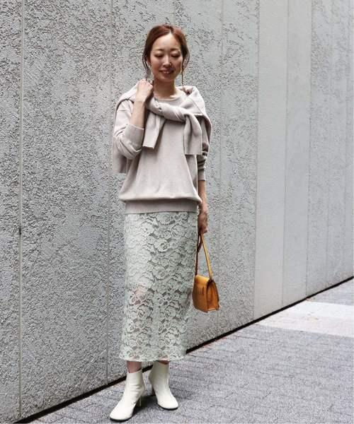 6[Spick & Span] コードレースタイトスカート