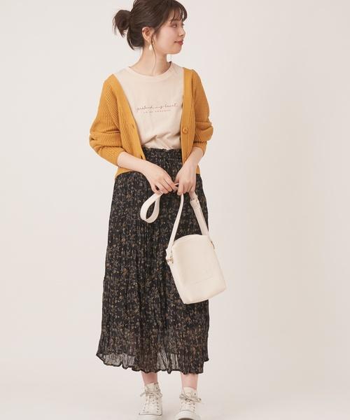 [natural couture] 【WEB限定カラー有り】プチプラお上品アイレットカーディガン
