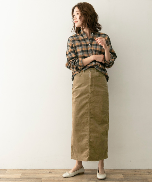 14[URBAN RESEARCH ROSSO WOMEN] F by ROSSO SOMETHING別注ストレッチロングスカート