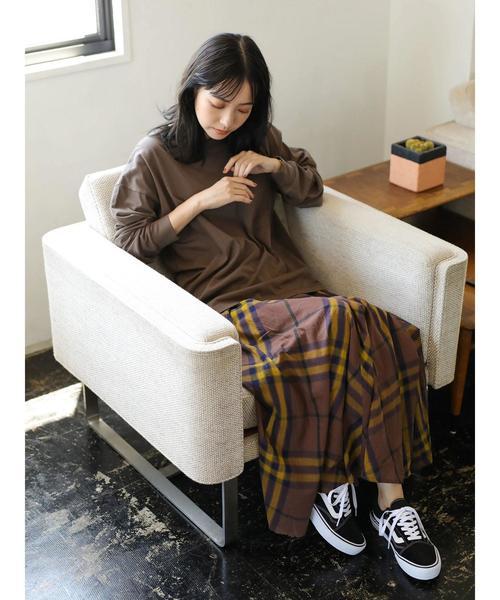 [CRAFT STANDARD BOUTIQUE] 【秋冬新作】バイアスBIGチェックスカート○