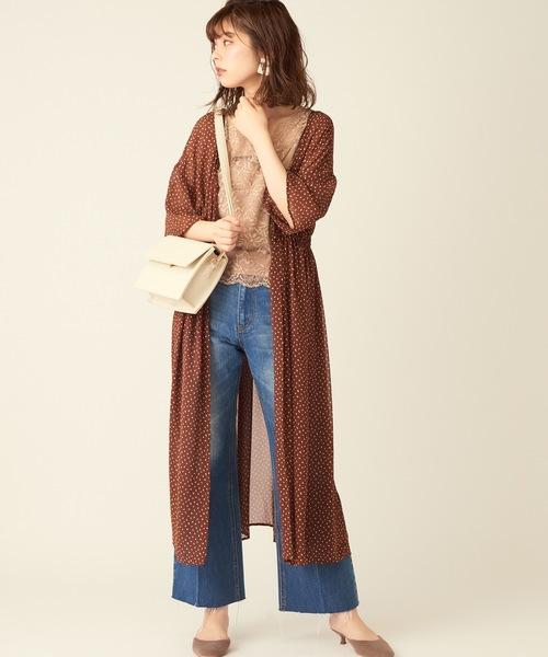 [natural couture] 2WAYレオパードOP