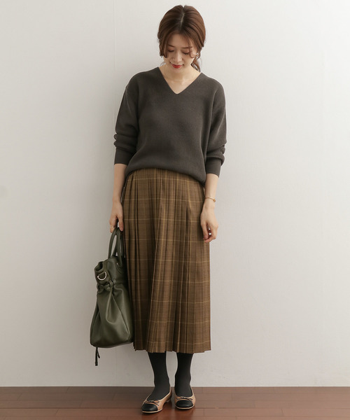 [URBAN RESEARCH DOORS] チェックプリーツスカート