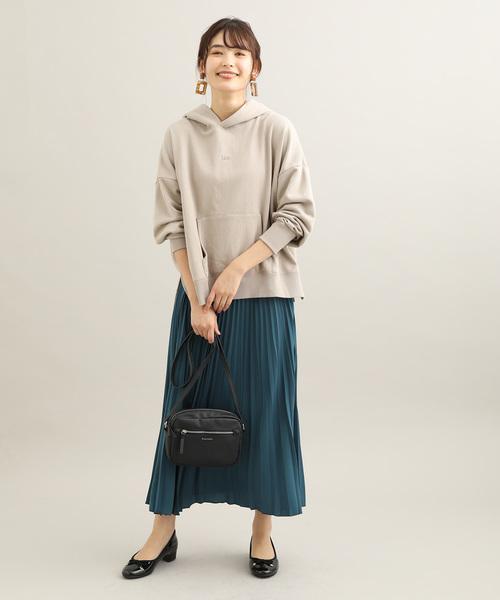 [ViS] サテン変形プリーツスカート