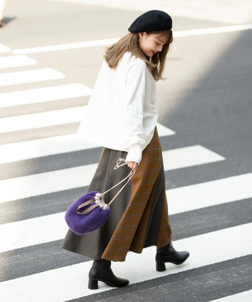 [FREE'S MART] ◆ミックスパターンチェックマーメイドスカート