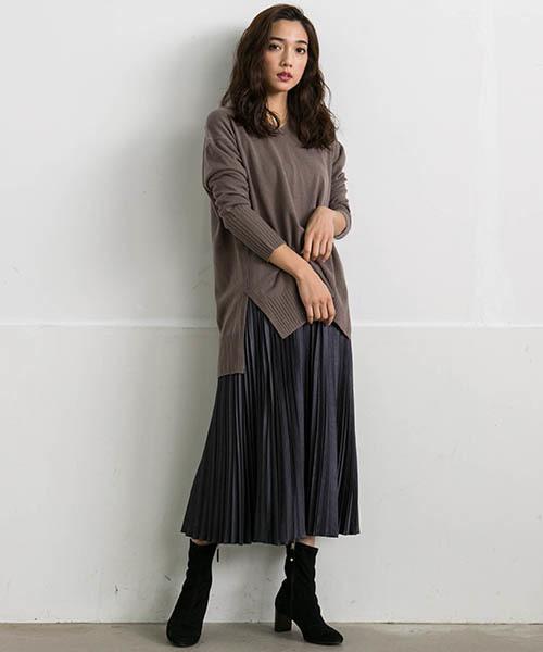 [LAUTREAMONT ONLINE SHOP] エコレザーを使用したプリーツスカート