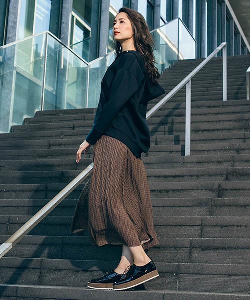 [LAUTREAMONT ONLINE SHOP] パイソン・ガンクラ プリーツスカート