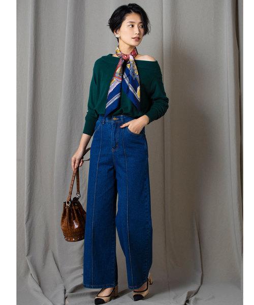 [tocco closet] 【yokoさんコラボ】シアバター加工2wayドロップショルダーニット