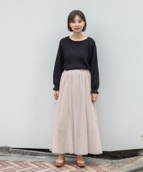 [flower] レディムードチュールスカート