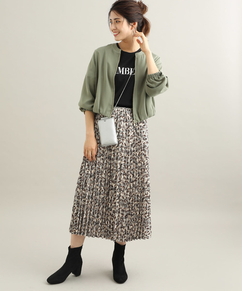 [ViS] 【ViS meets泉里香】プリントアコーディオンプリーツスカート