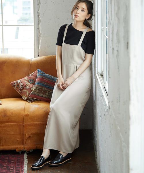 [ROPE' PICNIC] 【WEB限定】バッククロスジャンパースカート