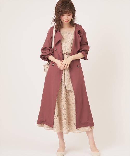 [natural couture] 前後2WAY太ベルトワンピース