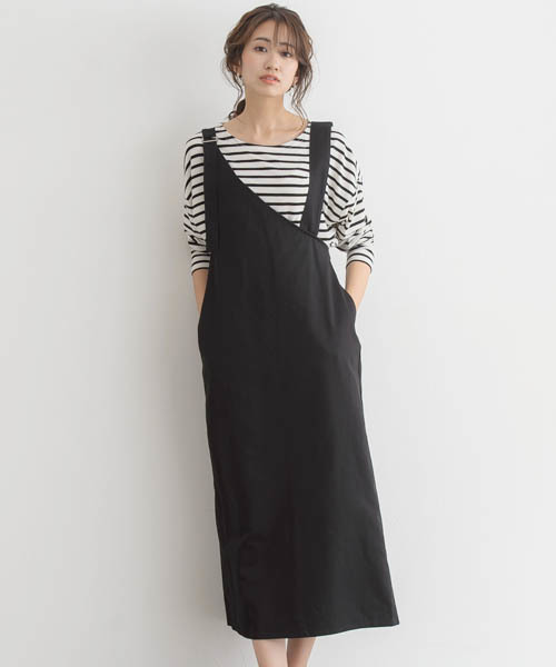 [Pierrot] ワンショルダーツイルジャンパースカート