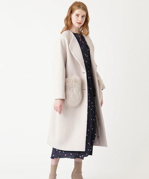 [JILLSTUART] ◆ポケットファー付ロングコート