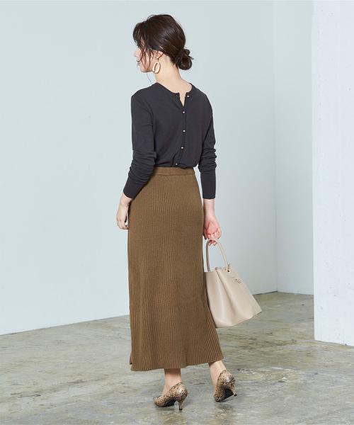 [ur's] ラップロングニットスカート