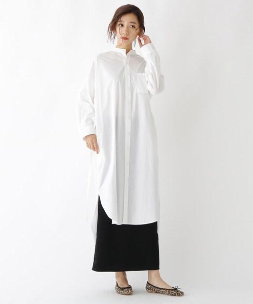[DRESSTERIOR] 【WEB限定】Traditional Weatherwear(トラディショナル ウェザーウェア)コットンスタンドカラーシャツワンピース