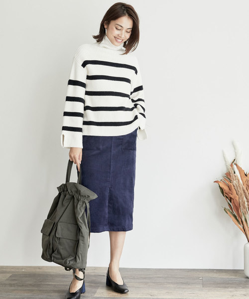 6[BASEMENT online] コーデュロイタイトスカート
