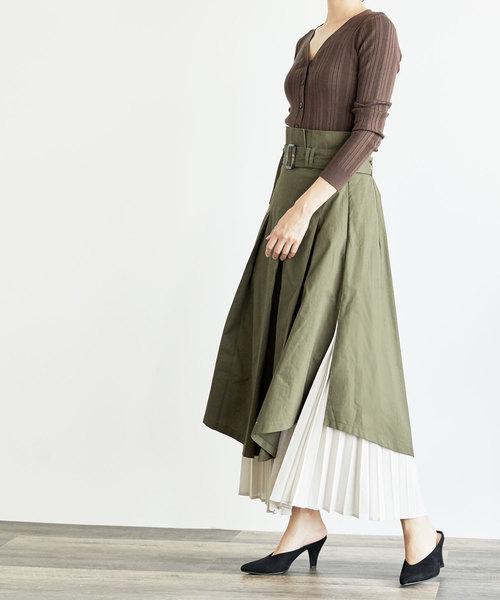 [BASEMENT online] ドッキングフレアスカート