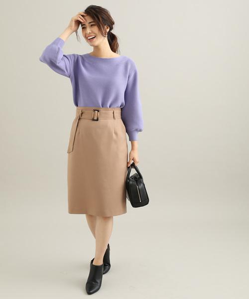 [ViS] 【EASY CARE】【着丈が選べる】ウォッシャブルフラノタイトスカート