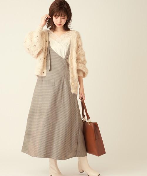 [natural couture] 【WEB限定】ワンショル2WAYジャンスカ