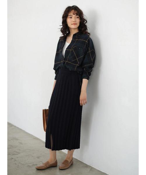 3[AMERICAN HOLIC] ケーブルニットタイトスカート