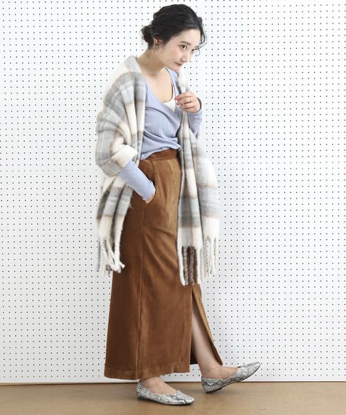 [FREAK'S STORE] ▽【WEB限定】太畝コーデュロイスリットスカート