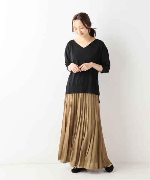 23[IENA] ニットプリーツスカート◆