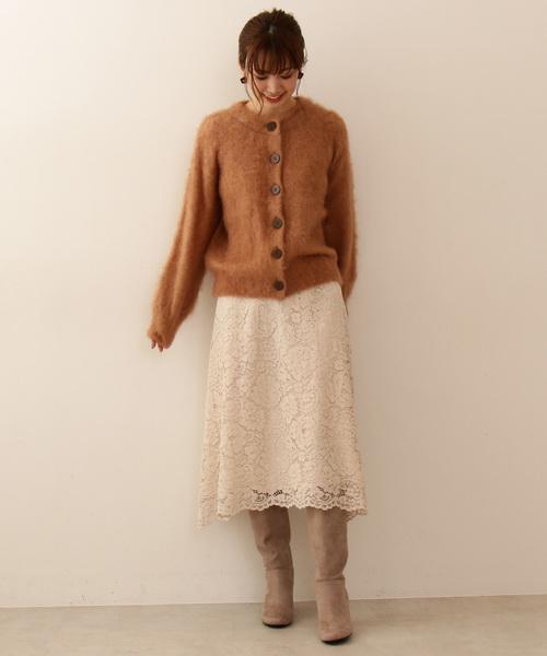 8[PROPORTION BODY DRESSING] コードレースフレアースカート