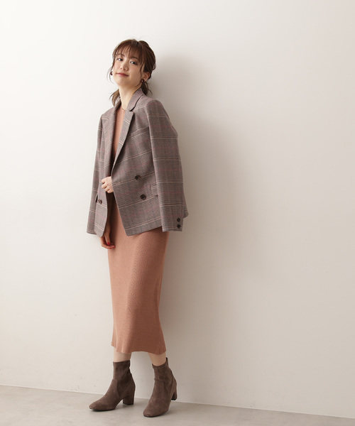 [PROPORTION BODY DRESSING] 【CanCam掲載】千鳥チェックダブルジャケット