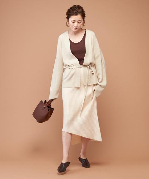 [COLLAGE GALLARDAGALANTE] リブニットタイトスカート