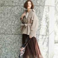茶色スカートの冬コーデ特集♡フレア・タイト・プリーツのおしゃれな着こなし術!