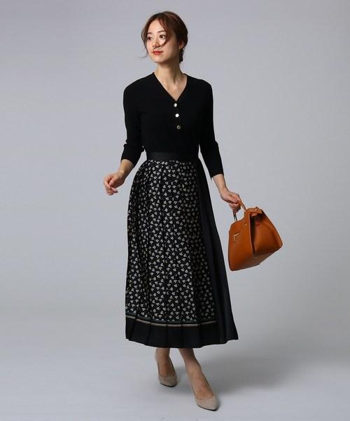 [UNTITLED] [L]スカーフプリントプリーツスカート